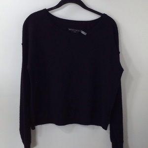 Alice & Olivia  black Wool/Cashmere Sweater Size L